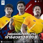 ส่งแรงใจเชียร์ให้ทัพนักกีฬาไทย ในการแข่งขันวีลแชร์เรซซิ่ง Men's 400m – T54 (รอบชิงชนะเลิศ) – ข่าวกีฬา