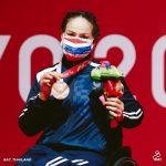 """สายสุนีย์ จ๊ะนะ เข้าพิธีรับเหรียญรางวัล(เหรียญทองแดง)จากการแข่งขันวีลแชร์ฟันดาบ เอเป้ หญิงเดี่ยว คลาสบี""""พาราลิมปิกเกมส์ โตเกียว2020″ ที่ประเทศญี่ปุ่น เมื่อวันพฤหัสบดีที่ 26 สิงหาคม ที่ผ่านมา – ข่าวกีฬา"""
