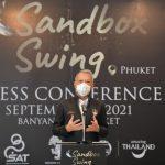 รมต. พิพัฒน์ แถลงข่าวการจัดการแข่งขันกีฬากอล์ฟอาชีพ โครงการแซนด์บ็อกซ์ สวิง (Sandbox Swing) – ข่าวกีฬา